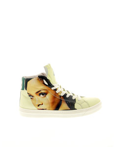 Rihanna Highlight Yellow Leather Woman's Sneakers