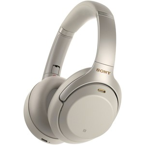 Sony WH-1000XM3 Wireless Noise-Cancelling Headphones With Mic For Calls Silver
