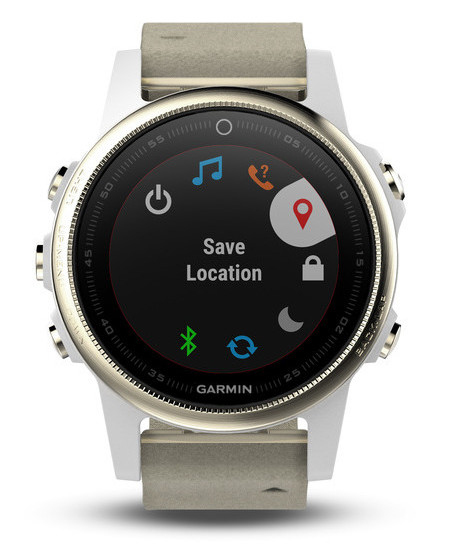 Garmin Fenix 5S Sapphire/Leather GPS Watch