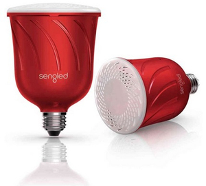 Sengled Pulse Dimmable Led Blub W/Bt Speaker Candy Apple Pair