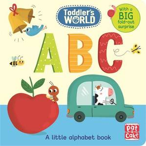 ABC: A Little Alphabet Board Book with a Fold-Out Surprise