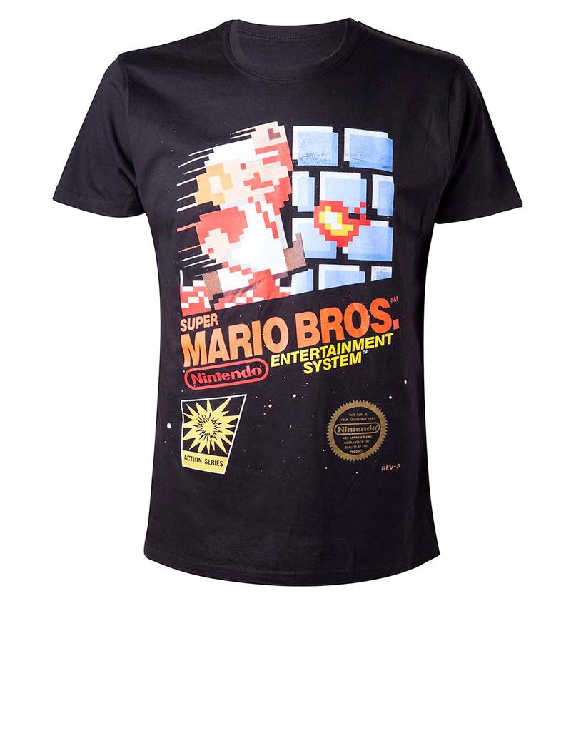 Bioworld Super Mario Bros NES Black T-Shirt