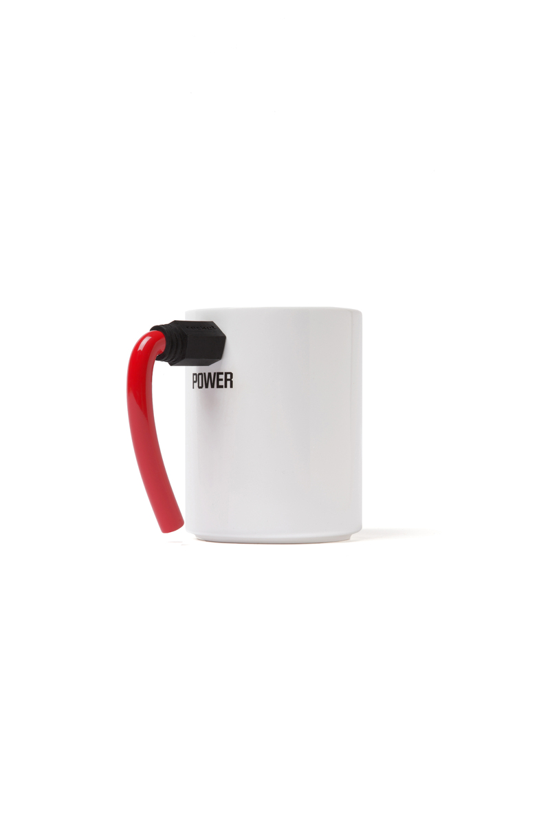 Rocket Coffee Mug Wired-Red Handle
