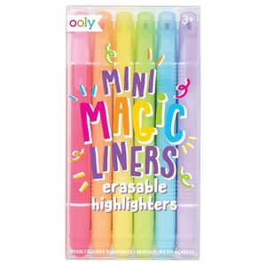 Ooly Mini Magic Liners Erasable Highlighters [Set Of 6]