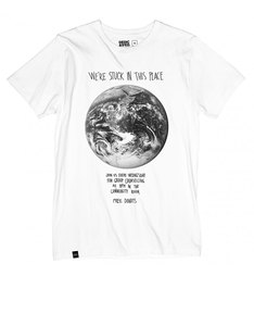 Dedicated Stuck On Earth White T-Shirt