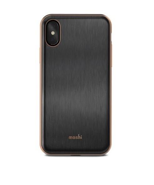 cheap for discount e1512 ddca0 Moshi iGlaze Case Imperial Black for iPhone X