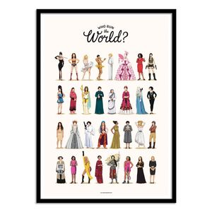 Run The World Art Poster by Nour Tohme [30 x 40 cm]