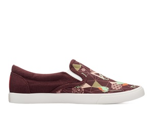 Bucketfeet Backpacker Brown/Teal Low Top Women's' Canvas Slip-Ons