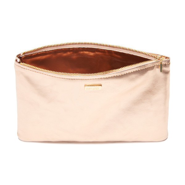 Ban.do Keep It Classy Zip Pouch Rose Gold