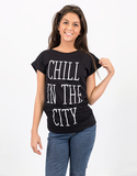 Saint Noir The City Rolled Sleeve White T-Shirt