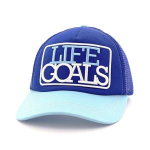 B180 Life Goals Unisex Cap Light Blue/Blue