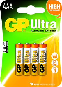 Gp Batteries Ultra Alkaline Aaa Single-Use Battery [4 Pack]