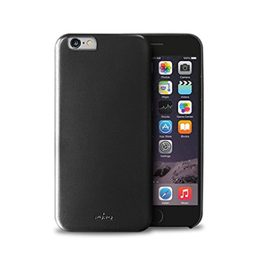 Puro Vegan Eco-Leather Cover Black iPhone 6 Plus