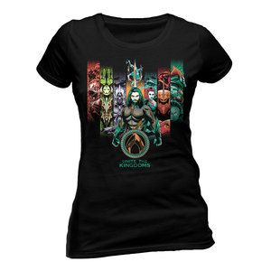 CID Aquaman Movie Unite the Kingdoms Women's T-Shirt Black