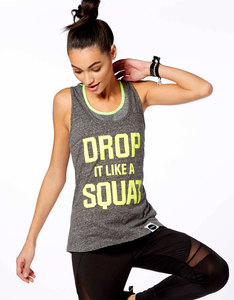 Hey Holla Drop It Like A Squat Racer Back Vest