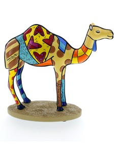 Romero Britto Sculpted Camel Figurine