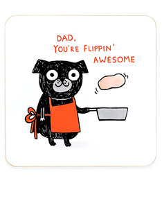 Ohh Deer Flippin' Awesome Dad DayCoaster