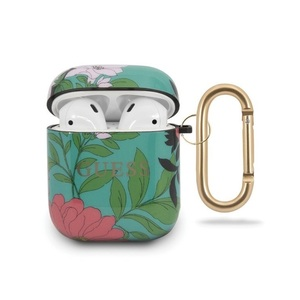 Guess Floral Pattern No 1 TPU Case for AirPods 1/2 Green