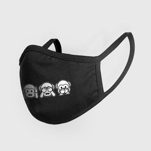 Mister Tee Fashion Mask Monkeys Black