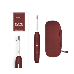 Bocali Sonic Rechargeable Electric Waterproof Toothbrush Red