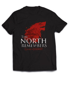 Plastichead Game Of Thrones The North Remembers Black T-Shirt