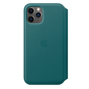 Apple Leather Folio Peacock for iPhone 11 Pro