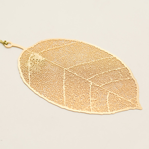 Letternote Leaf 24K Gold Plated Metal Bookmark