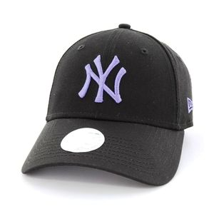 New Era Womens League Essential NY Yankees Ladies Cap Black/Light Royal
