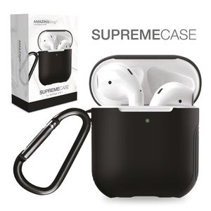 Amazing Thing Supremecase Guard Black For Airpods With Carabiner