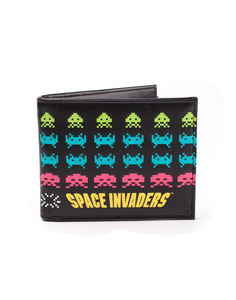 Difuzed Space Invaders Retro In Game Characters Bifold Wallet Black