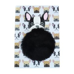 Happy Zoo Pug Notebook with Plush Patch