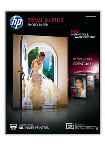 HP Premium Plus Glossy Photo Paper [20 Sheet] [13x18 cm]