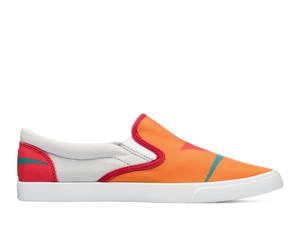 Bucketfeet Round Up Orange Low Top Women's Canvas Slip-Ons