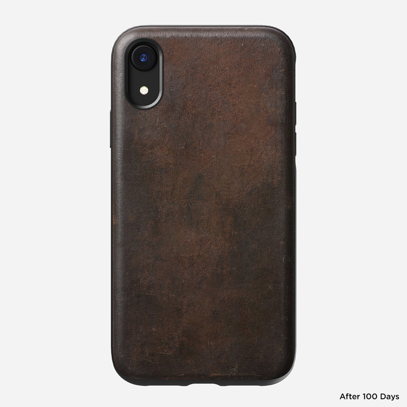 separation shoes 8dee4 f6a43 Nomad Rugged Leather Case Rustic Brown for iPhone XR