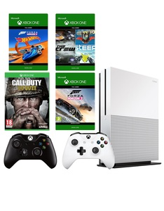 Xbox One S 500GB + Forza Horizon 3 Hot Wheels + Call of Duty WWII + The Crew/Steep + Black Wireless Controller