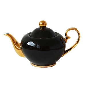 Bombay Duck Smitten Black & Gold Tea Pot