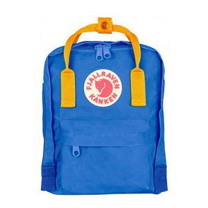 Fjallraven Kanken Mini Backpack Un Blue Warm Yellow