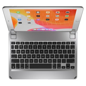 Brydge Aluminium Bluetooth Keyboard Silver for iPad 10.2-Inch 7th Gen [Arabic/English]