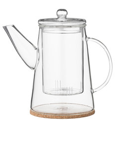 Bloomingville Glass Teapot with Cork Coaster 900 Ml