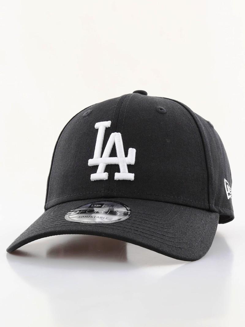 f2fc1b527eec0b New Era League Essential LA Dodgers Cap Black/White | Caps & Headwear | Men  | Fashion | Virgin Megastore