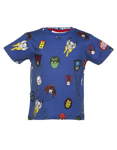 Marvel Character Repeat Print T-Shirt