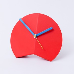 Block Origami Desk Clock Red