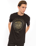 Game Of Thrones Winter Is Coming Medallion Black Men's T-Shirt