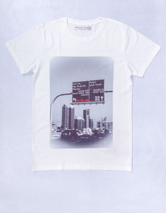 Port Zayed Road Sign White T-Shirt
