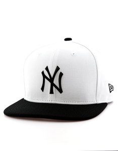New Era Rubber Prime NY Yankees Optic White/Black Cap