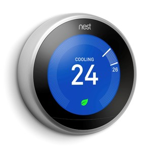 Nest Learning Thermostat Stainless Steel 3rd Gen [Includes Installation]