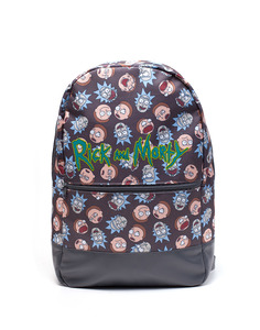 Difuzed Rick & Morty Logo & Big Faces Backpack