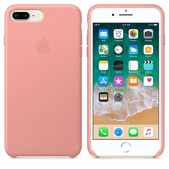 great fit 50011 9a558 Apple Leather Case Soft Pink For iPhone 8 Plus/7 Plus