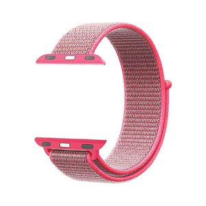 Promate Fibro-38 Pink Sporty Nylon Mesh Weave Adjustable Strap for 38mm Apple Watch