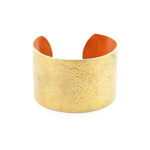 Afrika Tiss Bracelet Hammered Bronze/Orange